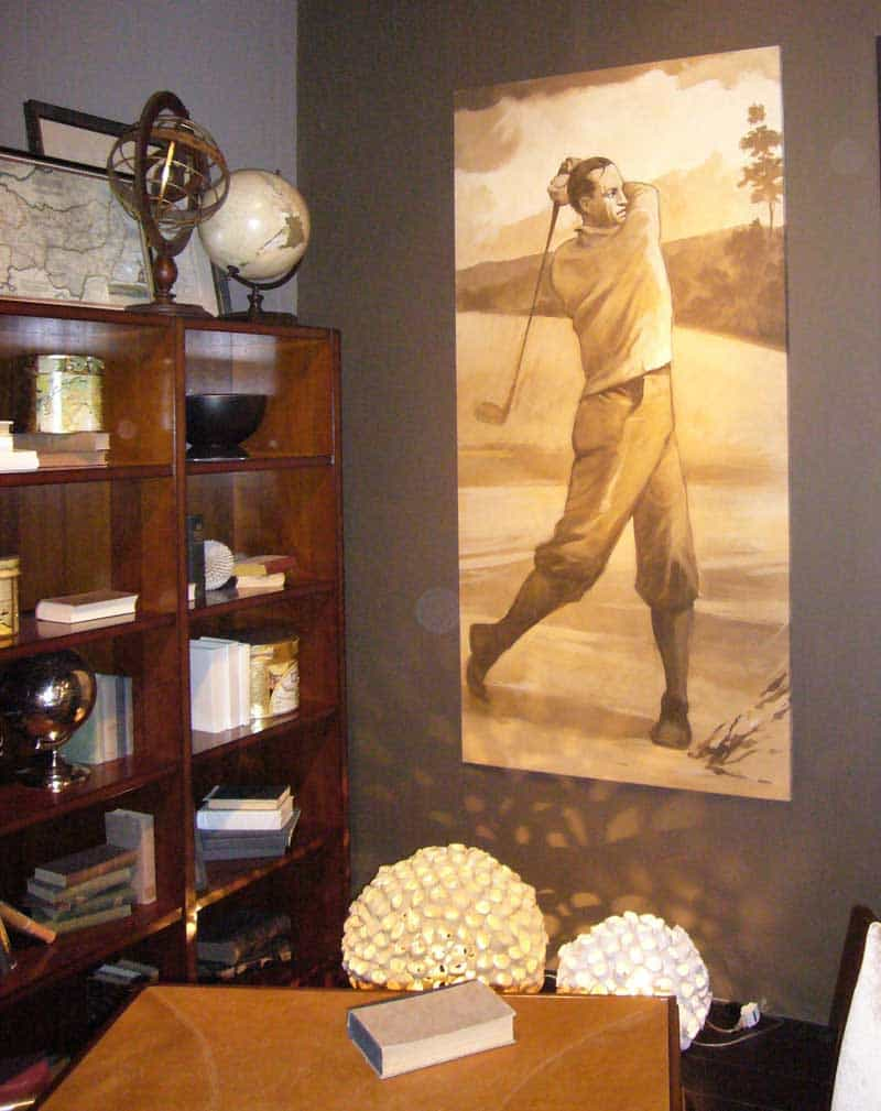 Golf Art: fresco painting in Italy